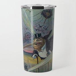 Vintage Illustration of Attacking Mosquitoes (1912) Travel Mug