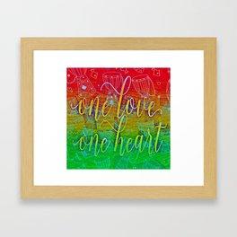 One Love One Heart Framed Art Print