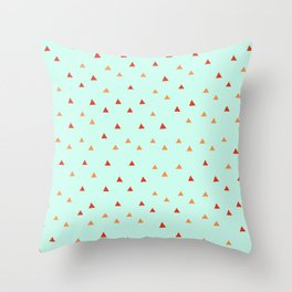Lighthouse Bay \\ Triangle Pattern Throw Pillow