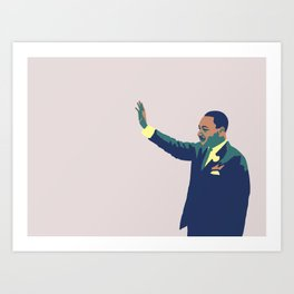 Martin Luther King Art Print