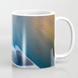 Moving Fast Kayaking on McCloud Reservoir Coffee Mug