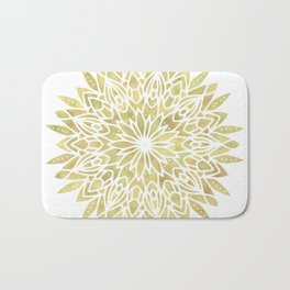 Mandala Yellow Sunflower Bath Mat