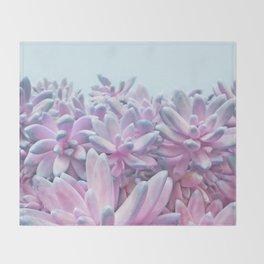 Sweet Succulents Throw Blanket
