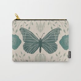 Butterfly & botanical symmetry Carry-All Pouch