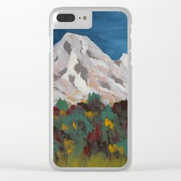 Mountains and Aspen in Autumn Clear iPhone Case