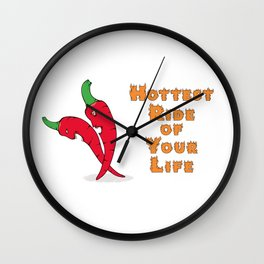 Hottest ride of your life with chili peppers. Wall Clock