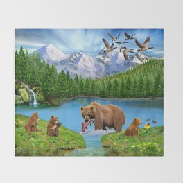 Window to the Great Bear Wilderness Throw Blanket