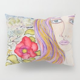 Lady of the blue manor Pillow Sham