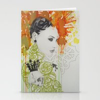 ruby Stationery Cards featuring Ruby by Aggelikh Xiarxh