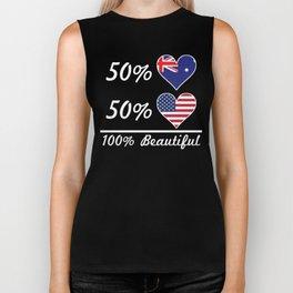 50% Australian 50% American 100% Beautiful Biker Tank