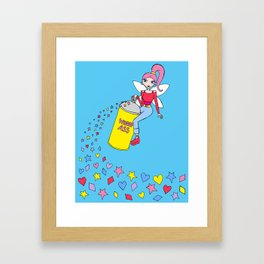 Fairy with a can of whoop ass Framed Art Print
