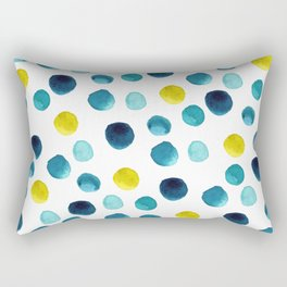 Polka Dot Beach Party Rectangular Pillow