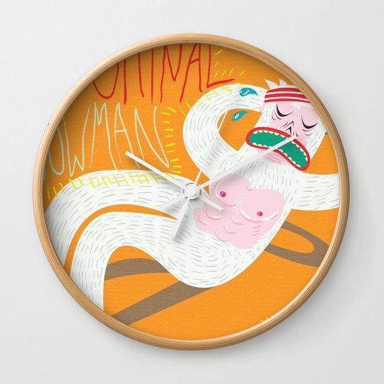 Abdominal Snowman Wall Clock