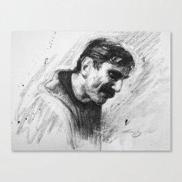 Oil Man Canvas Print