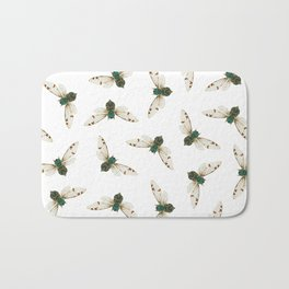 Cicada Jewels (White & Noir) Bath Mat