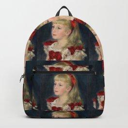 """Auguste Renoir """"Mademoiselle Grimprel au ruban rouge"""" Backpack"""