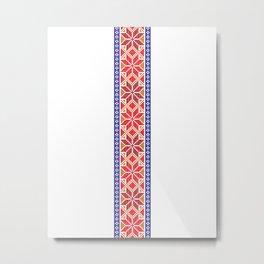 Cross stitch pattern 01 Metal Print