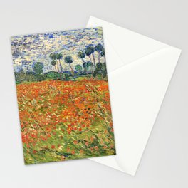 Poppy Field by Vincent van Gogh, 1890 painting Stationery Cards