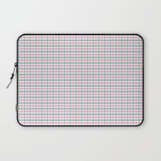 Gingham pink and forest green Laptop Sleeve