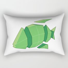 Illustration of a 3D Paper Craft Fish Model Rectangular Pillow