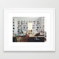 library Framed Art Prints featuring Library by Kevin Russ