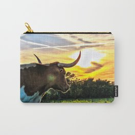 Illuminated Longhorn Sunset Carry-All Pouch