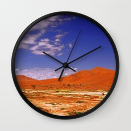 Namib desert with flowers in the rain season, Namibia Wall Clock