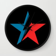 Bowie Star black Wall Clock