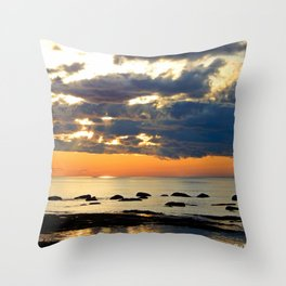 Textures Clouds over the Sea Throw Pillow