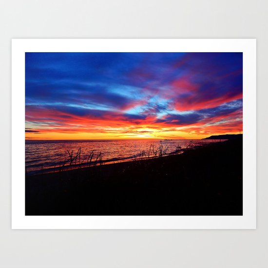 Sunrise on Sainte-Anne-Des-Monts Art Print