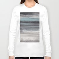 the strokes Long Sleeve T-shirts featuring Stripes & Strokes by Allison Kiloh