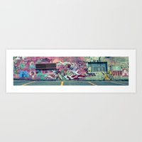 grafitti Art Prints featuring Grafitti by jhoffmandesigns