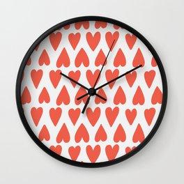 Shapes Nr. 4 - Red Hearts Wall Clock