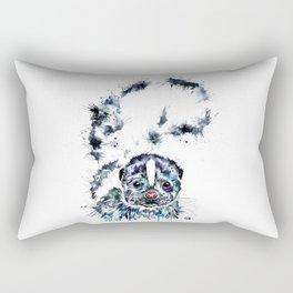 Baby Skunk Watercolor Painting Rectangular Pillow