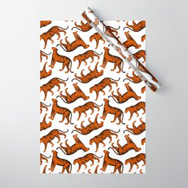 Tigers (White and Orange) Wrapping Paper