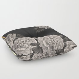 Flowers on a winter night Floor Pillow