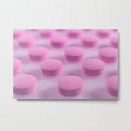 Pink Pills Pattern Metal Print