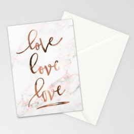 Marble love Stationery Cards