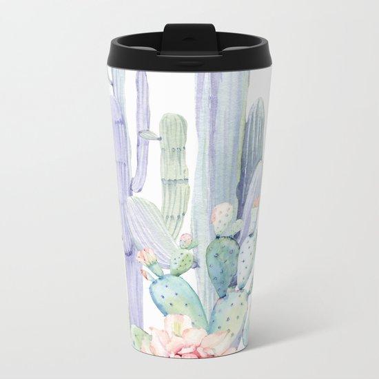 Mixed Cacti 2 #society6 #buyart Metal Travel Mug