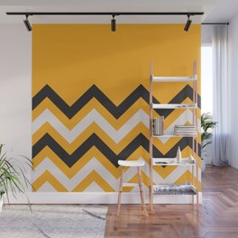Orange Zigzag Wall Mural