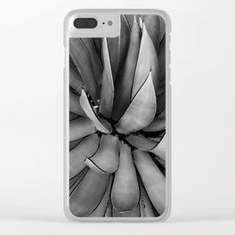 Black & White Agave Clear iPhone Case