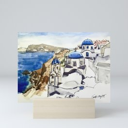 Santorini Island Greece Mini Art Print