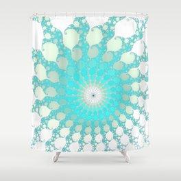 Tidal Pools - Fractal Art Shower Curtain