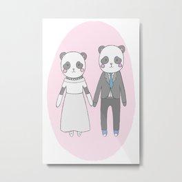 Wedding pandas, Metal Print