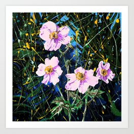 Flowers In My Father's Yard Remixed Art Print