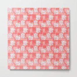 Swanky Mo Rose Metal Print