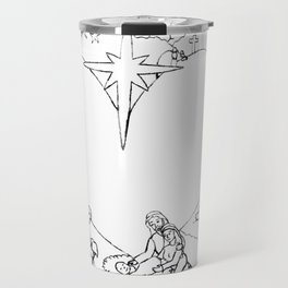 Wrapped in the arms of His love sketch Life of Christ Nativity to Resurrection Travel Mug