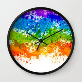 Colorful Splashes Wall Clock