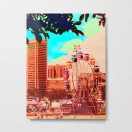 Baltimore Ferris Wheel Metal Print