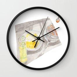 Cozy Sunday Lunch Wall Clock